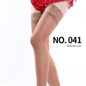 NO. 041 럭셔리 실리콘밴드 레이스 탑 밴드스타킹 20데니아 ( 레이스무늬는 모델컷과 조금씩 다릅니다 )